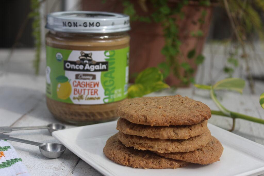 Cashew Lemon Shortbread Cookie
